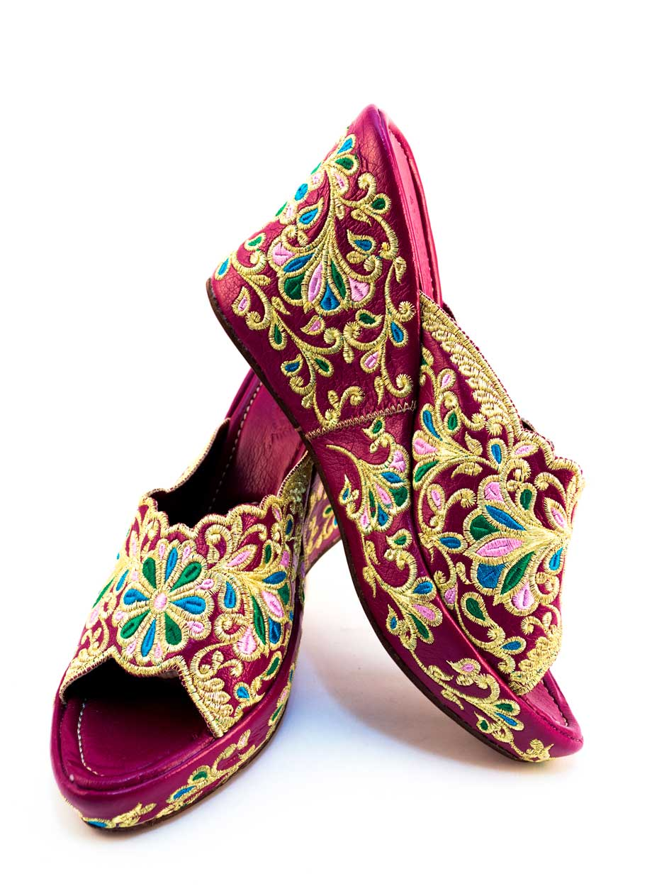 Moroccan wedge sandals