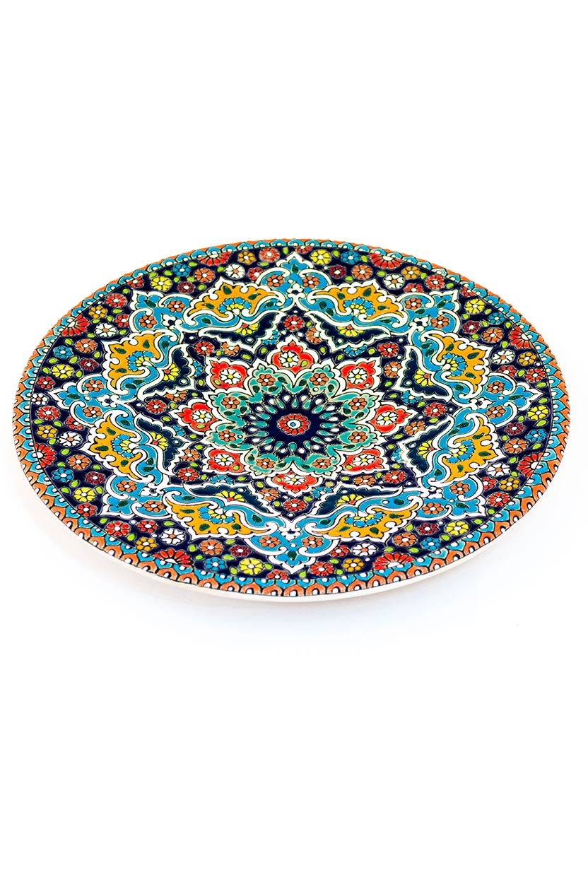 Assiette avec motif de dentelle en relief 25 cm