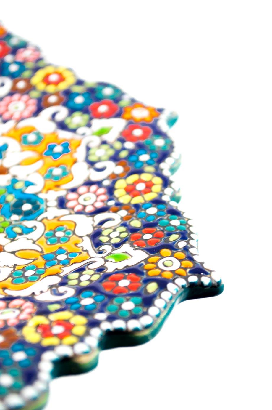 Assiette mandala 25 cm fleur de lotus assortis