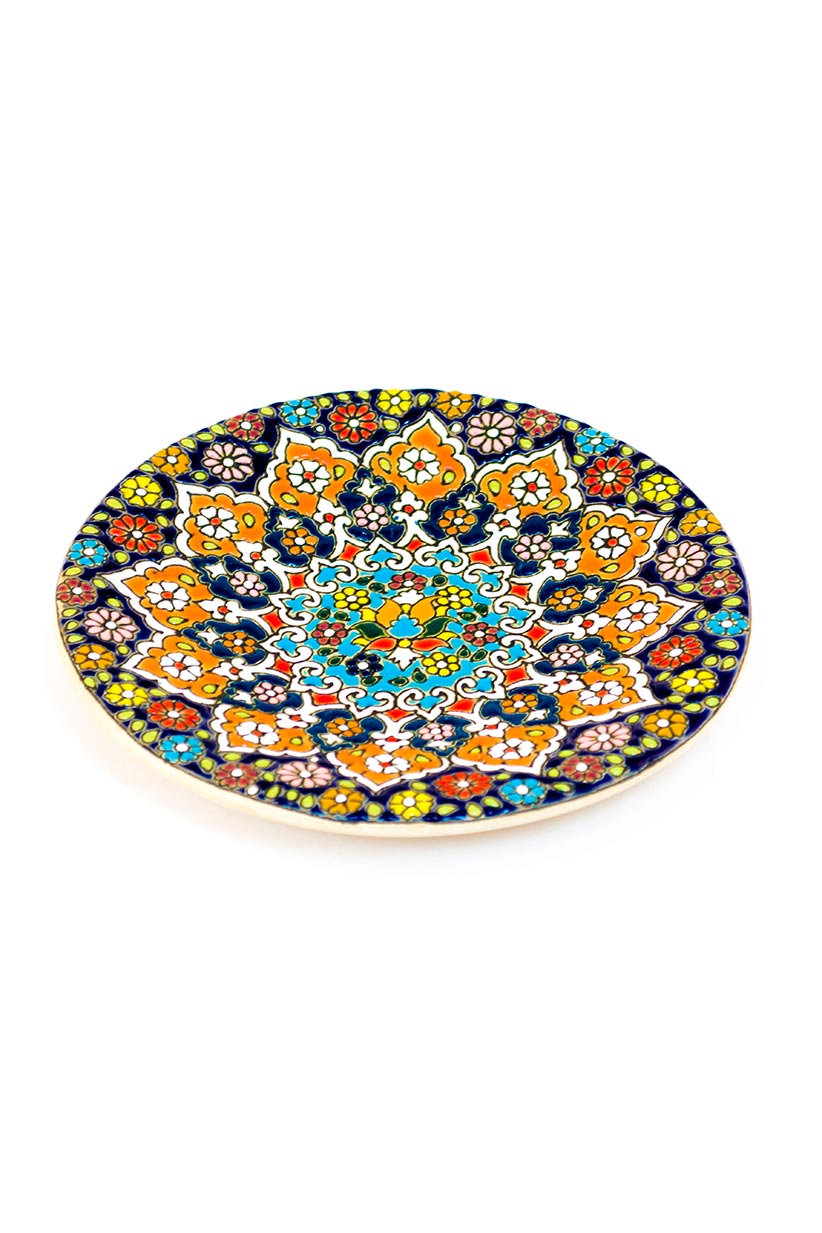 Assiette avec motif de dentelle en relief 15 cm