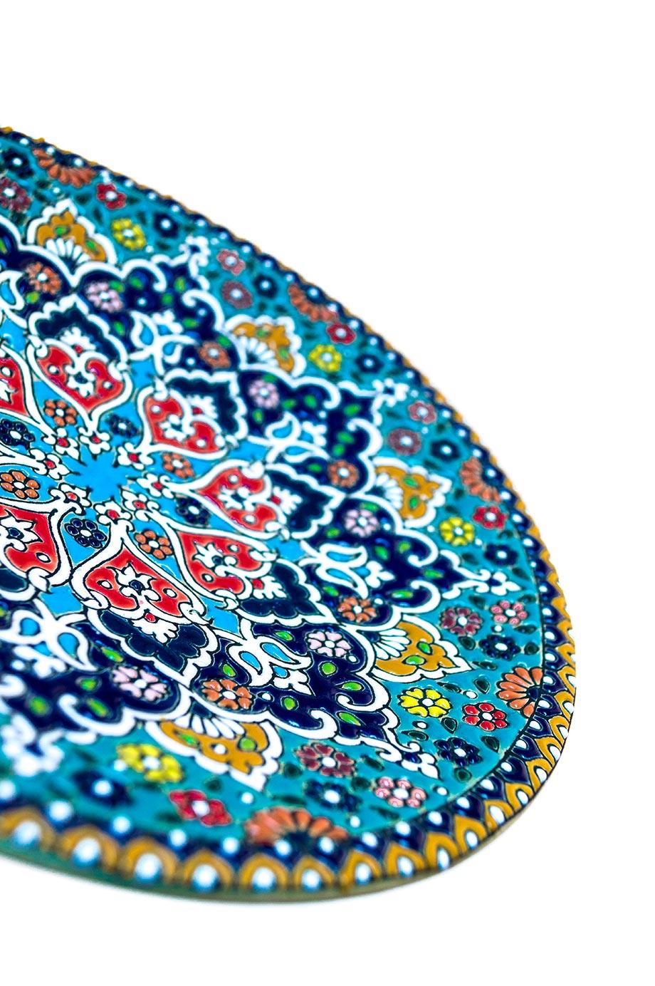 Assiette avec motif de dentelle en relief 20 cm