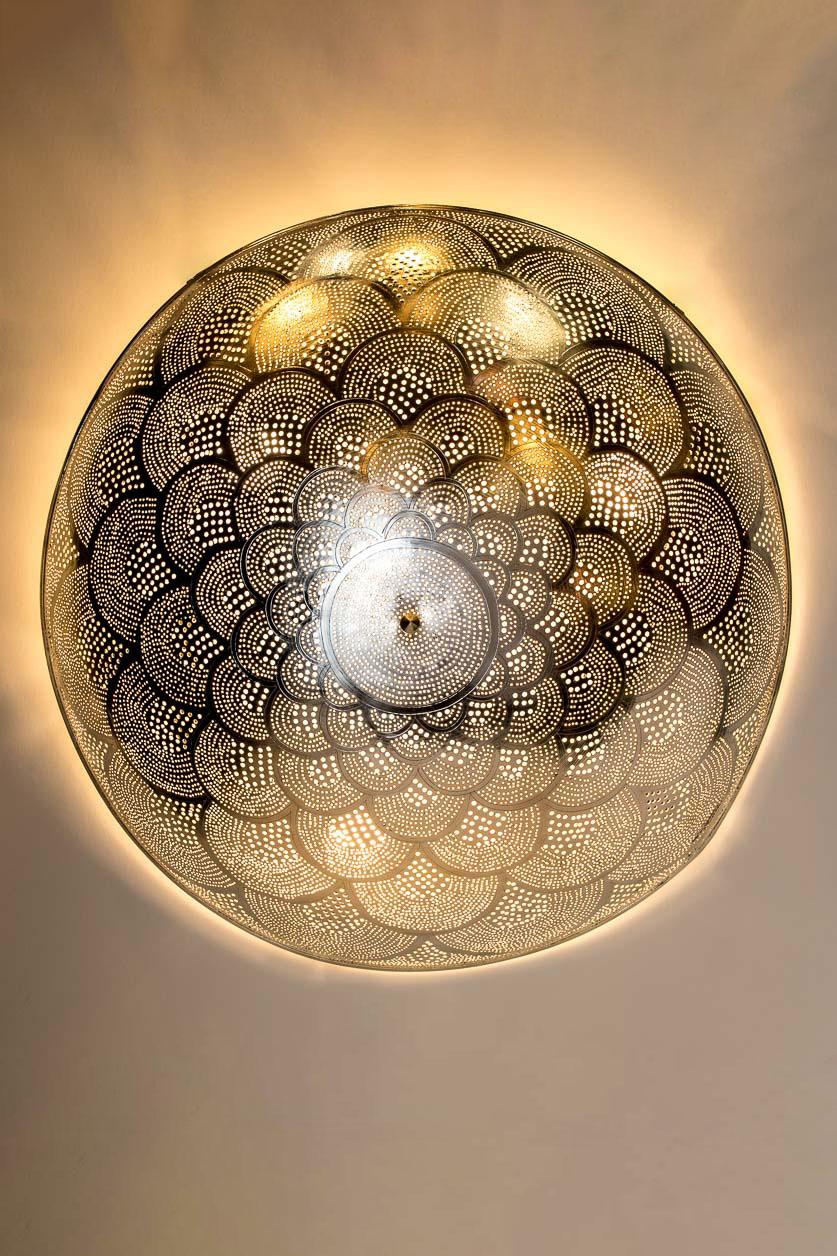 Petite murale et plafonnier mandala d'Égypte à fleur de lotus