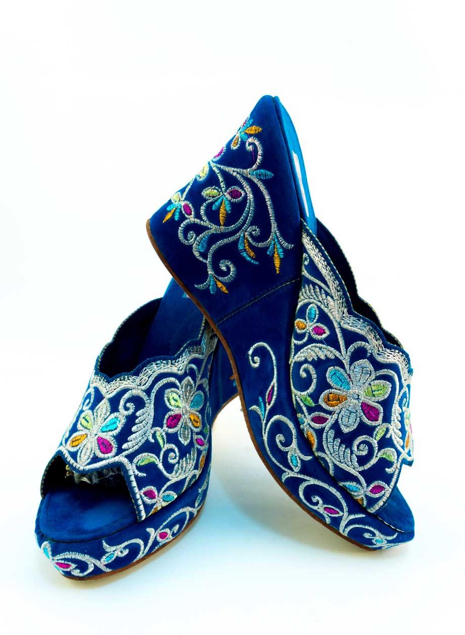 Sandales marocaines à talons compensés