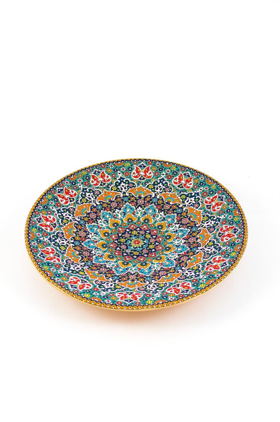 Assiette avec motif de dentelle en relief 35 cm