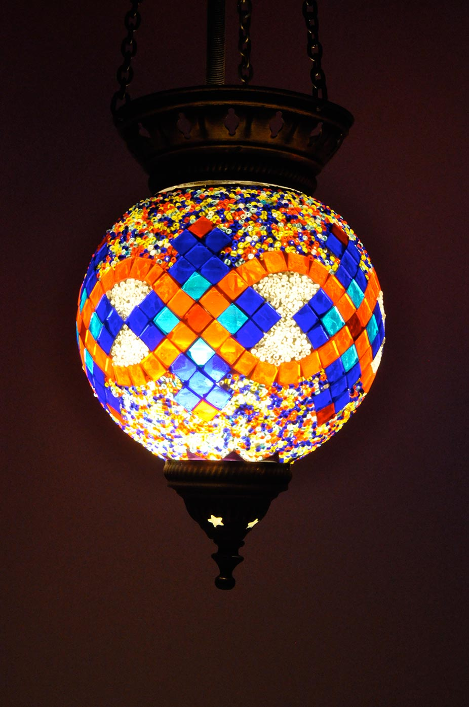 Suspension ronde en mosaïque