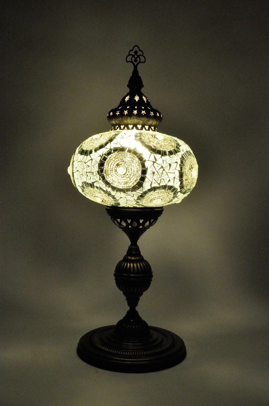 Lampe de table avec globe extra grand de mosaïque