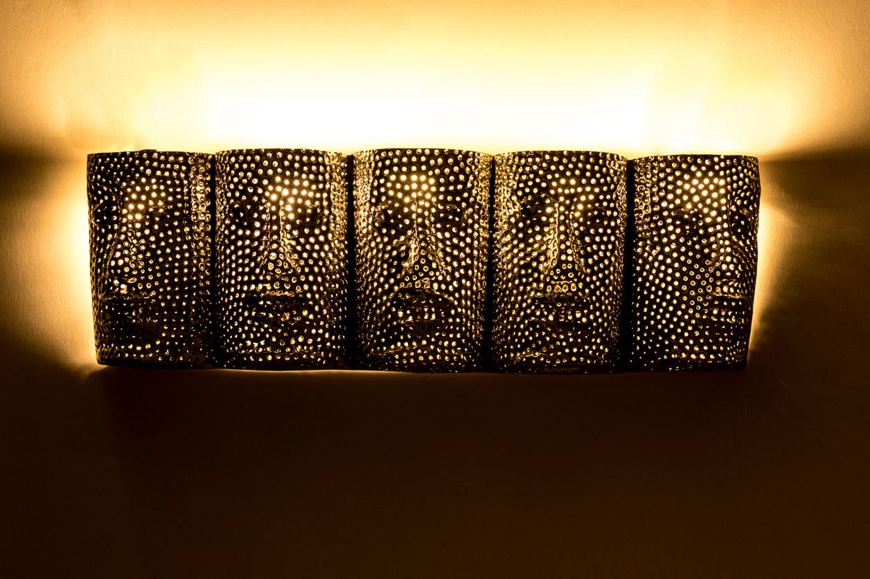 Murale aux cinq visages